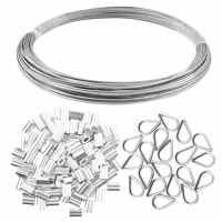 China 1/16 Inch X 66 Feet Marine Grade Stainless Steel Wire Rope on sale