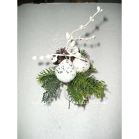 Quality Soft Touch White  Decorative silk orchids Artificial Flowers Garlands Wreaths   for sale