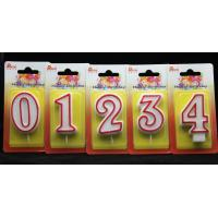 Quality Number Birthday Candles With Red Edge And Plastic Holder for sale