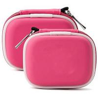 China Pink Cute Electronics Travel Case With Buckle , Durable Square Waterproof Carrying Case on sale