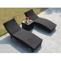Buy cheap Modern Poly Rattan wicker beach chair outdoor garden sunbed lounge chair from wholesalers