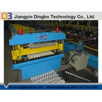 Quality Roof Tile Corrugated Roll Forming Machine with Comuter Control System for Shelving , HVAC for sale