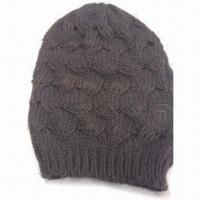 Quality 100% Acrylic Knitted Children's Hats, Customized Styles and Designs are Welcome for sale
