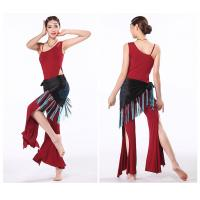 China Elegant modal belly dance practice costumes / outfits  leotard top and pants on sale