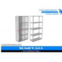 China Commercial Slotted Angle Shelving / Heavy Duty Metal Shelving Corrosion Protection on sale