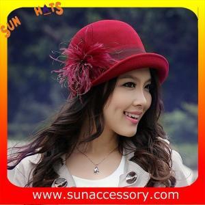 China 2960405 Sun Accessory customized  winner  trendy fashion wool felt clothe  hats  ,women hats and caps wholesaling on sale