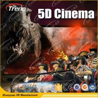 Buy cheap Electric Motion 5D Movie Theater  8 / 9 / 12 Seats With 6 DOF Hydraulic Platform product