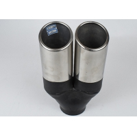 Quality Carbon Fiber 60mm Inlet 90mm Outlet Dual Exhaust Muffler Tip for sale