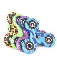 Buy cheap New EDC Tri-Spinner Fidget Spinner Toys Camouflage Pattern Hand Spinner Plastic ADHD Adults Children Education from wholesalers