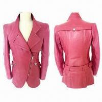 China Ladies Fashionable Lamb Nappa Leather Jackets, OEM Services are Provided on sale