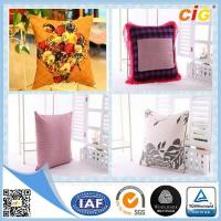 Quality Shrink Resistant Printed Fashion Chair Seat Pillow / Decorative Cushion Covers With Polyester Filling for sale