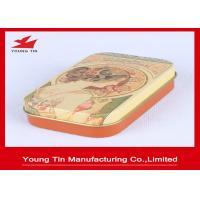 China Vintage Design Printed Candy Gift Tins 0.23 MM Tinplate Material With Lid on sale