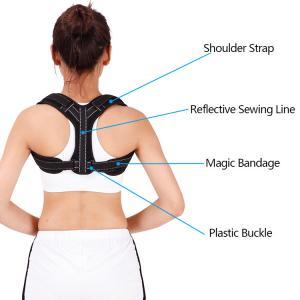Quality Comfortable Adjustable Shoulder Brace Upper Back Brace Magnetic Posture Corrector for sale