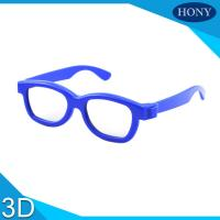 Quality Cinema Reald 3D Polarized Glasses For Kids , ABS Frame 0.19-0.38mm lens for sale