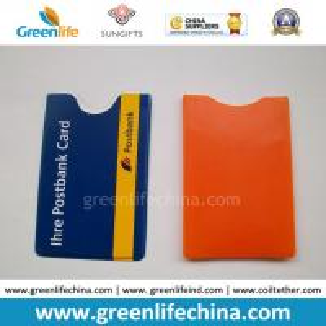 China Soft PVC Plastic Card Pocket W/Custom Logo Imprinted Logo on sale
