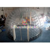 Quality PVC Material Layer Clear Inflatable Airtight Tent Transparent Bubble Tent With Door for sale