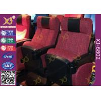 Buy cheap ISO Certification Padding Armrest Folding Theater Seats With Flame Retardant Fabric from wholesalers