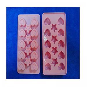 China heart shape silicone ice tray mold ,custom silicone tray molds on sale