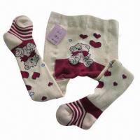 Quality Children's Cartoon Cotton Tights/Pantyhose for sale