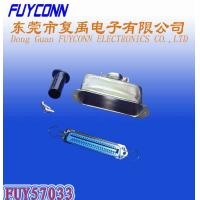 Quality 14 24 36 50 Pin Solder Female Receptacle Type Centronix Connector with 180 degree Metal Cover for sale