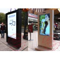 Quality Multi touch laser projector cd advertising screens , free standing digital display kiosk for sale