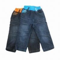 China Latest Boys' Jeans, Original Fashionable Design, Washed and Wrinkled, OEM/ODM Orders Welcomed on sale