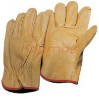 Quality A / AB / BC puncture proof wing thumb Pig Grain Leather Driving Gloves / Glove 22202 for sale