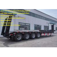 Buy cheap 4 Axles Low Bed Semi Trailer Trucks 12.00R20 Model Tire 50T Load Capacity 3.5 Inch King Pin product