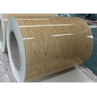 Quality 0.4MM Wood Grain Metal Roofing Construction Painted Coil for sale
