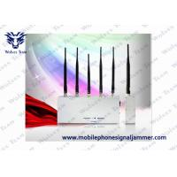 Quality Handheld Cell Phone Jammer Kit 3G GSM CDMA 5 Antenna 33W Energy Consumption for sale