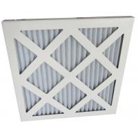 Quality Cardboard Frame Pleated Panel Home Pre Air Filters With Synthetic Fiber for sale
