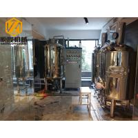 China Mirror Polish Brewhouse Equipment Steam Heated For Indoor / Outdoor Use on sale