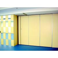 Buy cheap Auditorium Folding Partition Walls / Decorative Melamine Board Sliding Room Dividers from wholesalers
