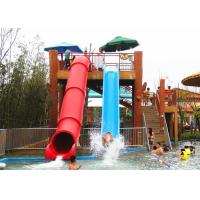 Quality High Speed Pipe Water Slide Combination Fiberglass Slides For Water Theme Park for sale