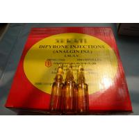 Buy cheap 100 Ampoules / Box Metamizole Sodium Injection , Dipyrone Drug Analgin Injection For Pain Relief product
