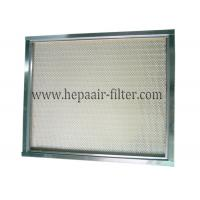 Quality Polypropylene Mini Pleat HEPA Air Filter Media / Cleanroom Air Filter for sale