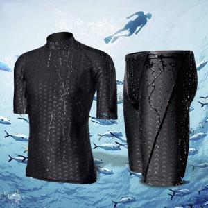 Quality Men Black Short Sleeve M L XL 4XL Neoprene Diving Suit for sale