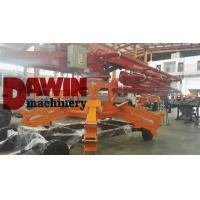 China 23m concrete placing boom 4 arms stages concrete distributor with 4 wheels trailer system on sale on sale