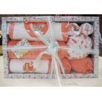 China All Cotton New Born Baby Christening Gift Sets with Baby Wear and Socks  on sale