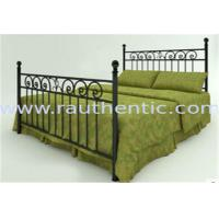 Quality Classic Metal Slat Metal Full Size Bed , Iron Pipe Double Metal Bar Beds for sale