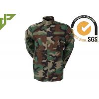 Quality Multi Camo Woodland Military Combat Uniform With Reinforced Internal Knee Pockets for sale