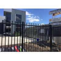 China Ornamental Steel Pool Fencing Power Painted At Black Available any Customized SiZE on sale