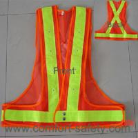 Quality 100% Polyester Fabric Reflective Safety Vests With Zipper EN20471 & CE Standard for sale