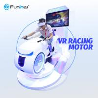 China White 9D Virtual Reality Racing Simulator , Multiplayer 700KW Motorcycle Racing Simulator on sale