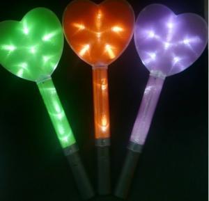 China OEM colorful heart shape LED sticks Glow wand  LED flashing wand toys FE12018  on sale