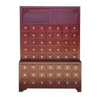 Quality Solid Wood Chinese Pharmacy Store Display Storage Cabinet Modular With Drawer for sale