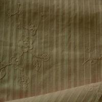 Quality 100% Cotton Embroidered Fabric, Available in Green for sale