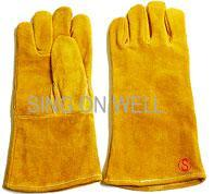 Quality cowhide split leather welding glove for sale