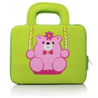 Quality Teddy Embroidered Laptop Computer Carrying Case , Notebook Bags 10 Inch for sale