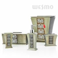 Buy cheap Rome Style Polyresin Bathroom Set With Beautiful Embossing On Bodies (WBP0815A) product